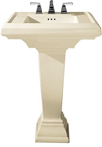 American Standard 0790.800.222 Town Square 24-Inch Pedestal Bathroom Sink with 8-Inch Faucet Spacing, Linen