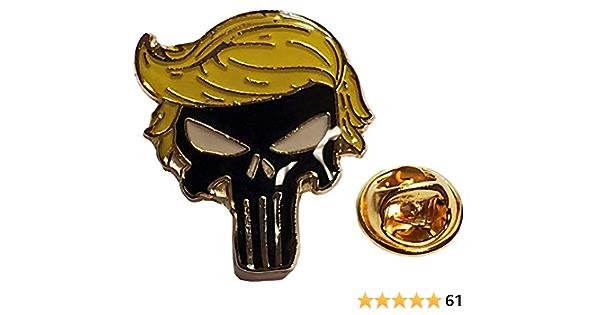 Skull Cowboy or Skull in Cowboy Hat Cowboy or Biker or Military Pin Lapel Pin