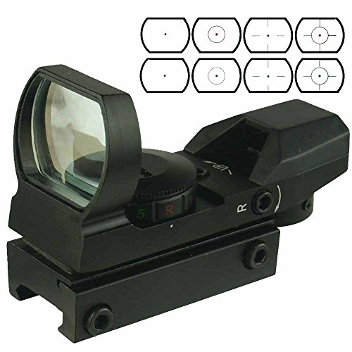 Lukher Green and Red Dot Sight with 4 Reticles and 5 levels of brightness