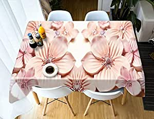 LB Flor Rosa Mantel Romántico Manteles,152x228CM 3D ...