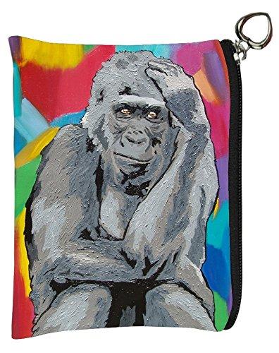 Change Purse, Vegan Coin Purse - Animals - From My Original Paintings Salvador Kitti