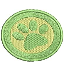 Pet Paw Sew on Patch Embroidered Iron on Patches Applique