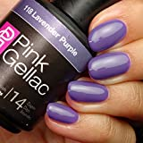 Pg Nail Polish Pink Gellac #118 Lavender Purple Soak-Off UV / LED Gel Polish (15ml / 0.5 fl oz)