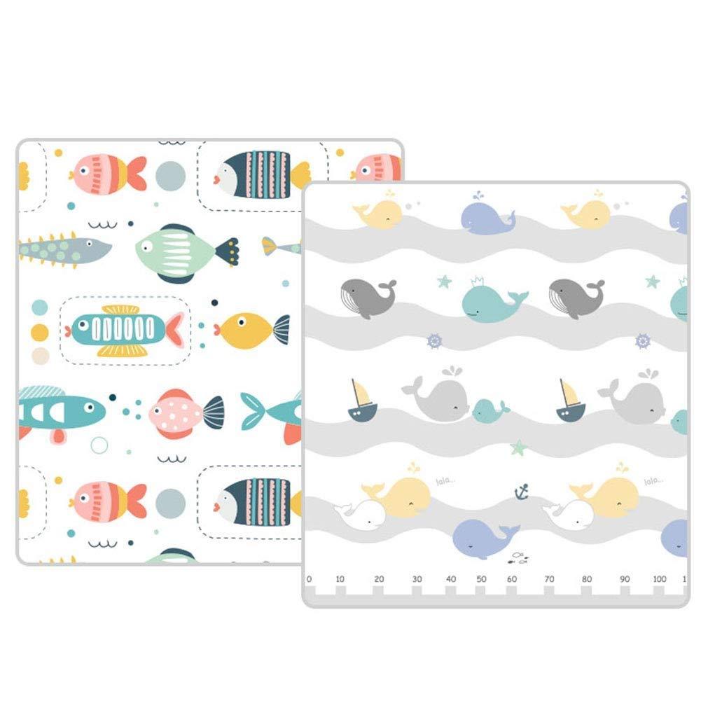 Faltbare Babyspielmatte - XPE-Schaum Große Weißhe Baby-Krabbeldecke Spielmatte Für Baby-Kinder, Wasserdichte, Reversible Yoga-Gymnastikmatte (Größe   180×150×1cm)  180×150×1cm