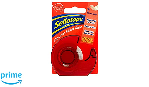 Sellotape - Dispensador de cinta adhesiva de doble cara (15 mm x 5 m): Amazon.es: Oficina y papelería