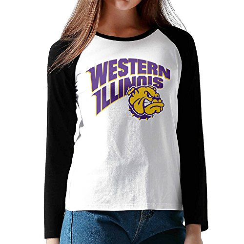 Price comparison product image MULTY9 Western Illinois University Women's Long Sleeve Raglan Jersey Shirt M
