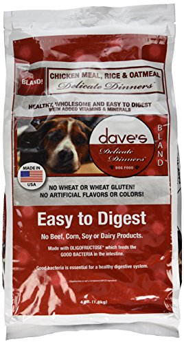 Dave's Pet Food Chicken Rice and Oatmeal Food Bag, 4 lb.