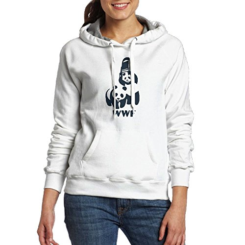 FASHION HHL Women's Sweatshirt With Pocket - WWF Panda Bear Wrestling by FASHION HHL