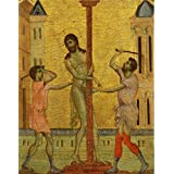 Oil painting 'Cimabue (Cenni di Peppo) - The Flagellation of Christ, c. 1280' printing on Perfect effect Canvas , 18x23 inch / 46x59 cm ,the best Basement decoration and Home decor and Gifts is this Imitations Art DecorativeCanvas Prints