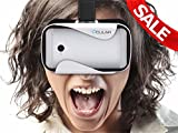 Ocular Rapid Virtual Reality Glasses (WHITE) - Fully Adjustable VR Headset with 42 MM Lenses - VR Box Compatible With 4.5'-6' Android Smartphones, iPhone, Samsung Galaxy, Lenovo, HTC, Micromax, Xiaomi, Redmi, Moto, One Plus - VR Glasses For 360° Videos, 3D Movies, VR Pictures, VR Games - Inspired by Google Cardboard, Oculus Rift, Shinecon, Samsung Gear.