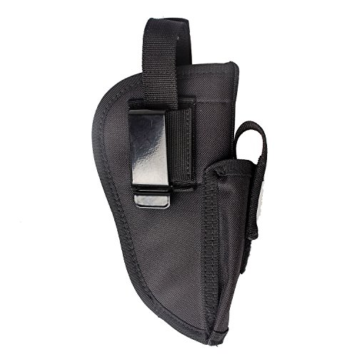 Gun Holster Pistol Tactical Glock 17 19 27 40 42 43 .380 Sig P320 1911 Ruger 9mm Taurus Beretta Compact M&P Shield Belt Military Carry Universal Left Right Interchangeable With Magazine Pouch (black)