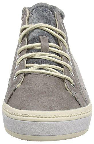 ESPRIT Alamak Damen Hohe Sneakers Grau (025 brown grey)