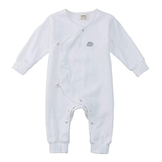 45df7aaba Amazon.com  Owlivia Organic Cotton Baby Boy Girl Snap Front Romper ...