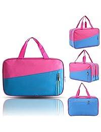 AOLVO - Bolsa de playa para natación, para gimnasio y deportes en seco, impermeable, bolsa de almacenamiento para viajes al aire última intervensión, Rosa rojo + azul, 1