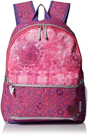 Skechers Girls' Twinkle Leopard Pink Backpack, Pink/Purple, One Size