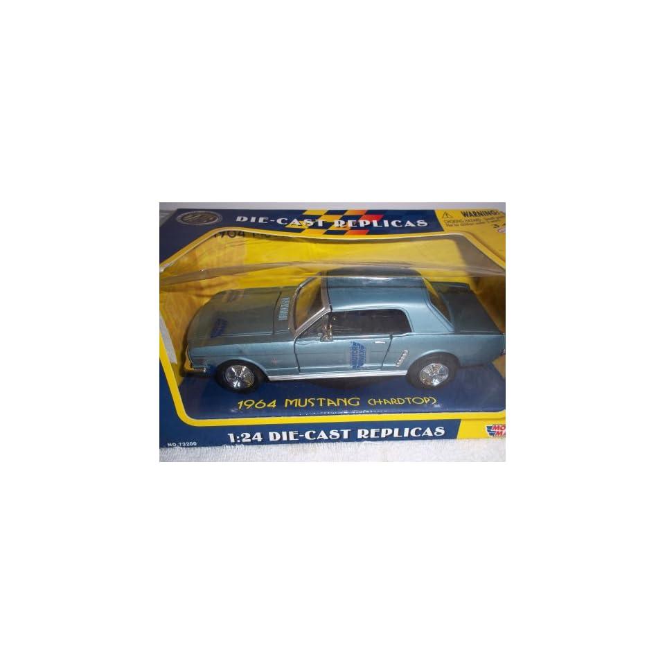 1964 Ford Mustang Diecast Car Model 1/24 Orange Hard Top Motormax