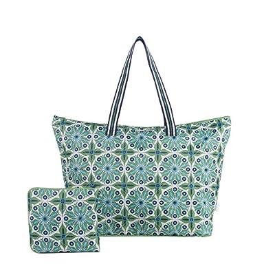 5727fdef3cdd best cinda b Verde Bonita Women s Packable Zip tote
