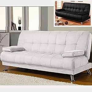 Sofá cama de piel sintética, con reposabrazos, antivuelco ...
