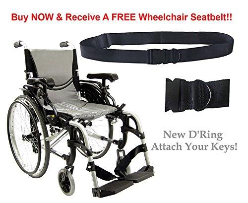 (Karman S-ERGO 305 Lightweight Ergonomic Wheelchair S-Ergo305Q18SS, 29 lbs, Quick Release Wheels, Frame Rose Red, Seat Size 18