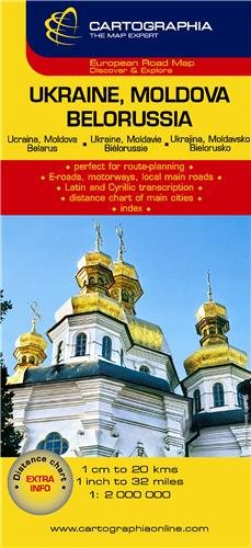 Ukraine, Moldova, Belarus (Cartographia Country Maps) (French, English and German Edition)
