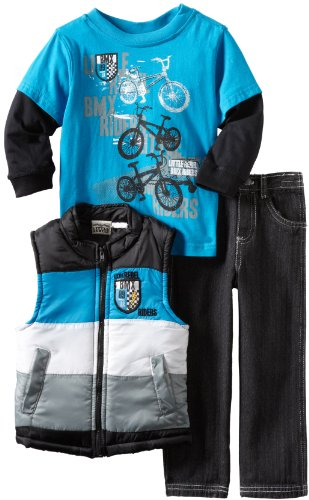 Little Rebels Little Boys' 3 Piece Little Rebel BMX Riders Vest Set