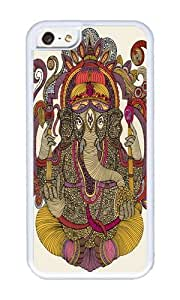 Apple Iphone 5C Case,WENJORS Cool Lord Ganesha Soft Case Protective Shell Cell Phone Cover For Apple Iphone 5C - TPU White