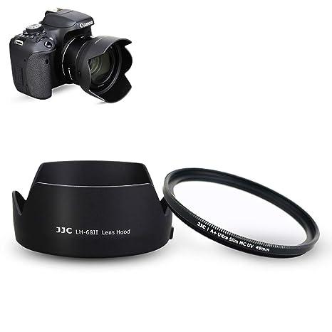 Parasol y Filtro UV para Objetivo Canon EF 50 mm f/1.8 STM ...