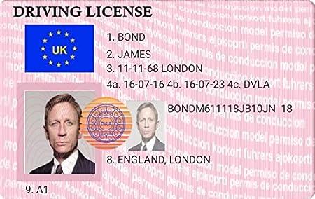 Bond Novelty James Kitchen Home Amazon Driving - amp; License uk 5 High Keyring co