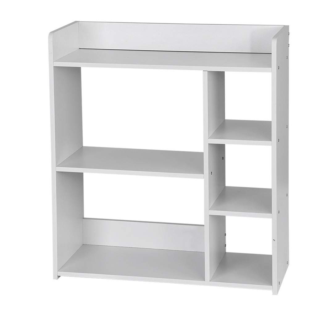 Rigel7 Simple Combination Bookcase Bookshelf Home Multi-Layer Floor Rack Modern & Simple Style Storage Bookcase Cube Shelf Organizer Home Decor by Rigel7