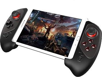 PowerLead - Mando de videojuegos inalámbrico Bluetooth clásico (con función ratón) para Samsung HTC Moto Addroid TV Box Tablet PC (9037) 9083: Amazon.es: Videojuegos