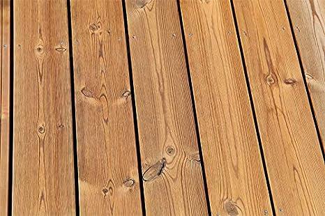 Muestra de producto - Plantilla de madera térmica para terraza, madera de pino, 26 x 140 mm, lisa por un lado y cepillada por un lado: Amazon.es: Bricolaje y herramientas