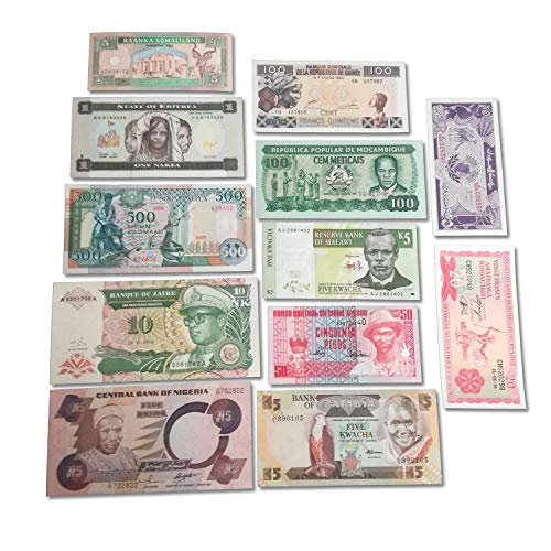 (World Banknotes Collection - 12 African Banknotes - Foreign, Currency, Uncirculated )