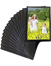 Sooyee Magnet Photo Frame Refrigerator,Magnetic Picture Holder, Magnetic Picture Frame Fridge(White,Black)
