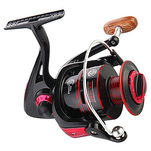 Drasry Spinning Fishing Reels for Saltwater or Freshwater 12 +1 BB Light Weight Ultra Smooth Fishing Reel 22 LBs Max Drag Left/Right Interchangeable Collapsible Handle (HK4000)