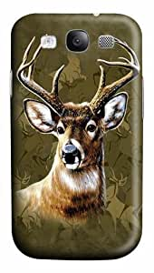 Camo Deer PC Case Cover for Samsung Galaxy S3 and Samsung Galaxy I9300 3D