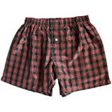 Crimson Noir Checks Silk Boxers - Size XL - 37''-38''