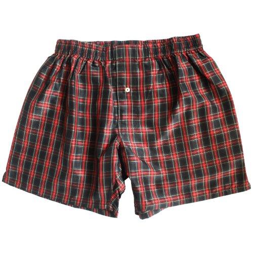 Crimson Noir Checks Silk Boxers - Size XXL - 39