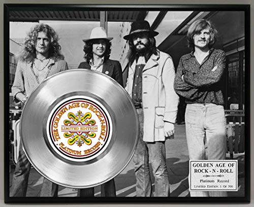 G.A.R.R. Led Zeppelin Platinum Record Poster Art Limited Edition Commemorative Music Memorabilia Display Plaque ()
