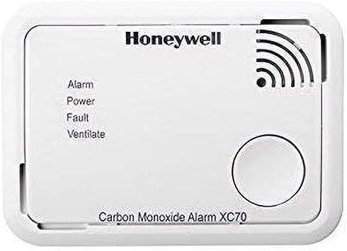 Honeywell Home XC70-ESPT-A Detector de Monóxido de Carbono, color blanco