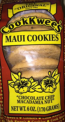 MAUI COOK KWEES Chocolate Chip Macademian Nut Cookies, 6oz, 12 Count