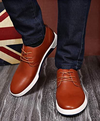 Sposa Lavoro Uomo Snone Scarpe Unita Ragazzi Pelle 2 Moda Scarpe Uomo Antiscivolo Stringate Coreano Tinta Stile Scarpe Pelle in Casual Moda Stile Traspirante da d'Affari da di qXqSAxH