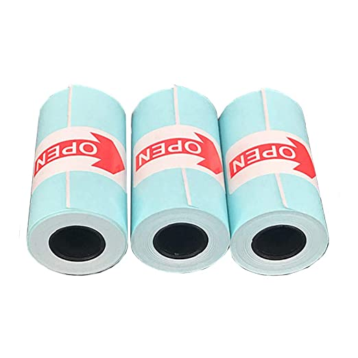 Fitrt - Papel de impresión (3 Rollos, Autoadhesivo, para Impresora ...