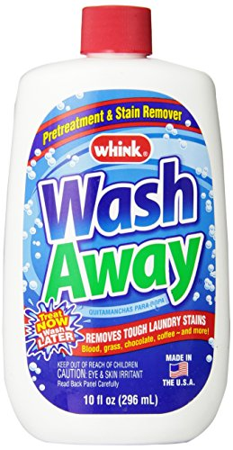 Remover Wash - Whink Wash Away Laundry Stain Remover, 10-Ounce Bottle (Pack of 6)