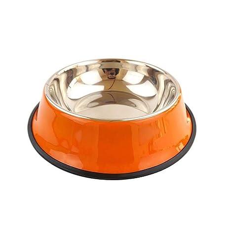 Greetuny 1x Cuenco Mascotas Acero Inoxidable Contenedor pienso Antideslizante Tazón de Agua Perros Accesorios Gato Alimentación Comedero Mascotas (Rosa): ...