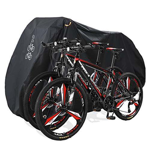 Aiskaer Bicycle Cover with Lock Hole Reflective Safety Loops for 29er Mountain Road Electric Bike Motorcycle Cruiser…