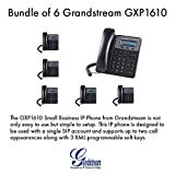 Grandstream GXP1610, SOHO IP phone, 1 SIP acct., 3-way conf., Bundle of 6