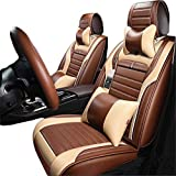 GRACE ROAD Luxury Microfiber Leather Car Seat Cover Set Universal Car Seat Cushion Cover Waterproof Cover Full Set Car Seat Mat