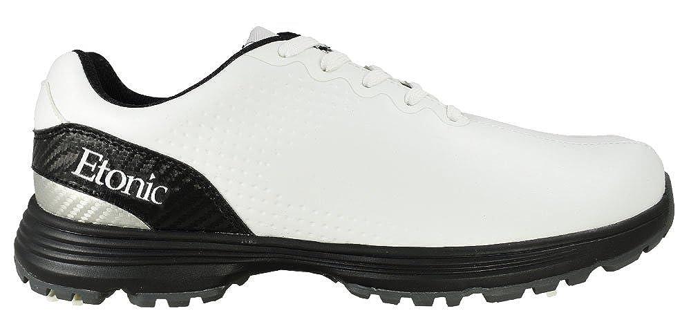 B07PVCN6YD golf-スタビライザー靴 W 13 US ホワイト/シルバー/ブラック [Etonic]