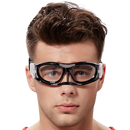 EVERSPORT Protective Sports Goggles Safety Basketball Glasses for Adults with Adjustable Strap for Basketball Football Volleyball Hockey Rugby1601 - Goggles Basketball