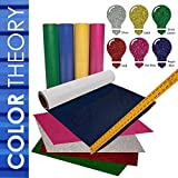 Greenstar GLITTER Heat Transfer Vinyl HTV, 6-Color Pack 20in x 12in - Color Theory by USCutter